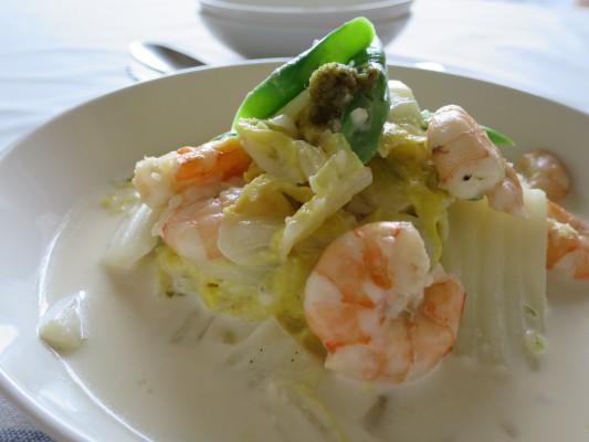 白菜と海老