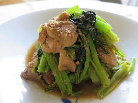 小松菜ごま醤油